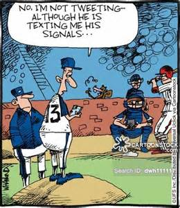 Funny Cartoon Baseball Player