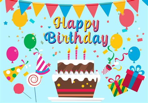 free birthday happy birthday vector illustration free vector stock graphics images