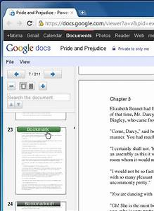 bookmark pages of pdf files in google docs chrome With google docs and pdf files