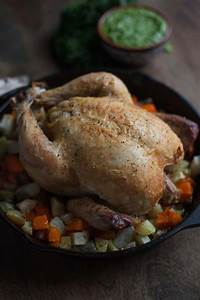 Simple Roast Chicken with Carrot Top-Kale Pesto - A ...