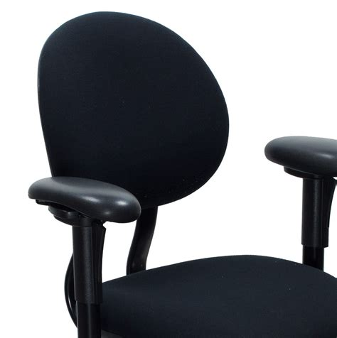 steelcase criterion used mid back task chair black