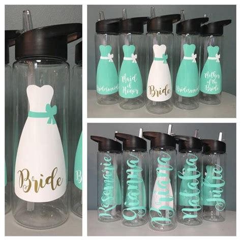 bridesmaid gift wedding water bottle bridal party