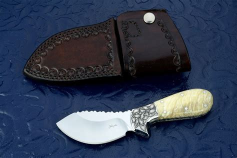 engraved kitchen knives quot nunavut quot custom handmade skinning knife by fisher
