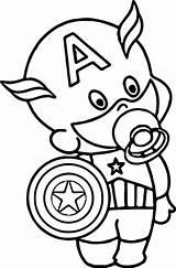 Coloring Captain America Pages Superhero Avengers Drawing Shield Cartoon Outline Printable Superheroes Marvel Colouring Super Malvorlagen Hero Sheets Chibi Von sketch template