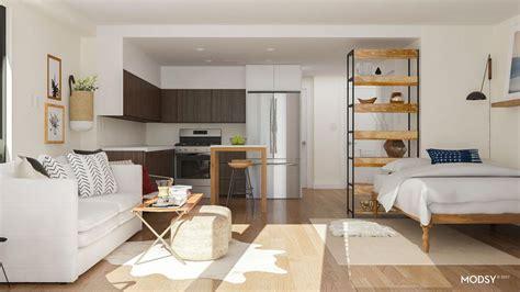 Small Kitchen Spaces Ideas - studio apartment layout ideas two ways to arrange a square studio