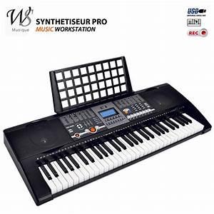 Synthetiseur electrique clavier piano 61 touches midi usb Instruments de musique Topkoo