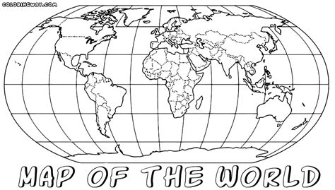 coloring page  world map coloring home