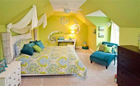 Bedroom Decorating Ideas Yellow And Green by Bedroom Colors Ideas Blue And Bright Lime Green