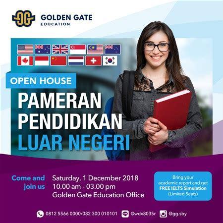 pameran pendidikan luar negeri golden gate eventsurabaya
