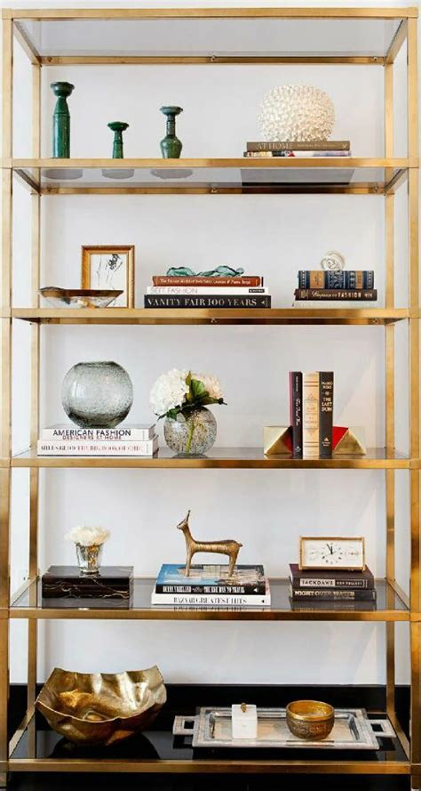 Etagere Decorating Ideas by How To Style A Brass Etagere Interiors Vignettes