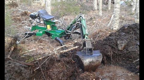 digging pond kellfri mini excavator big scoop minibagger youtube