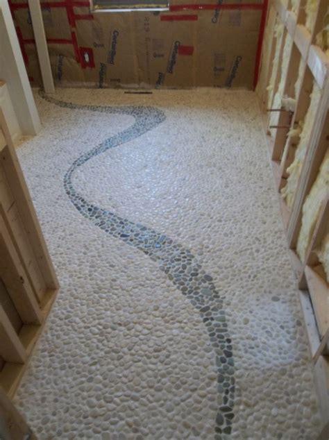 pebble tile bathroom ideas pebble tile floor