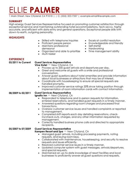 Hospitality Sle Resume by Hotel And Restaurant Services Resume Retail And