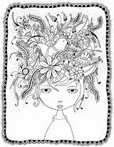 Coloring Pages Crazy Hair Printable Adults Sheets Doodle Easter Printables Frog Freebies Discover Books Bee sketch template