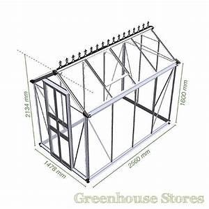 4x8 Eden Birdlip Greenhouse Toughened