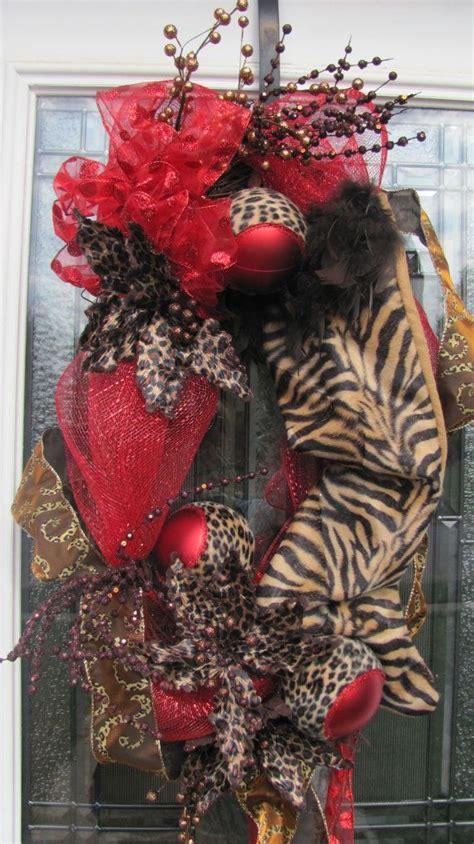 animal print christmas wreath  justforyouowensboro