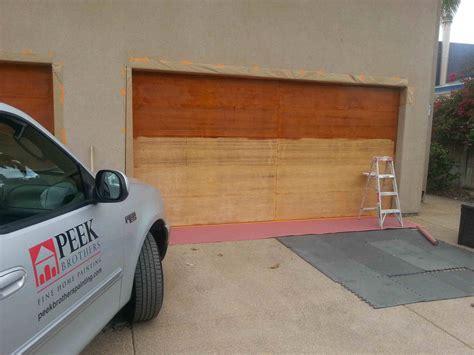 refinishing wood entry doors  garage doors peek