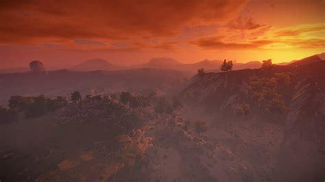 rust landscape sunset sun games wallpapers desktop hd backgrounds background mobile hipwallpaper wallup
