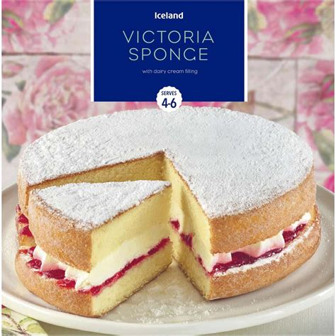 Iceland Victoria Sponge with Dairy Cream Filling 375g ...
