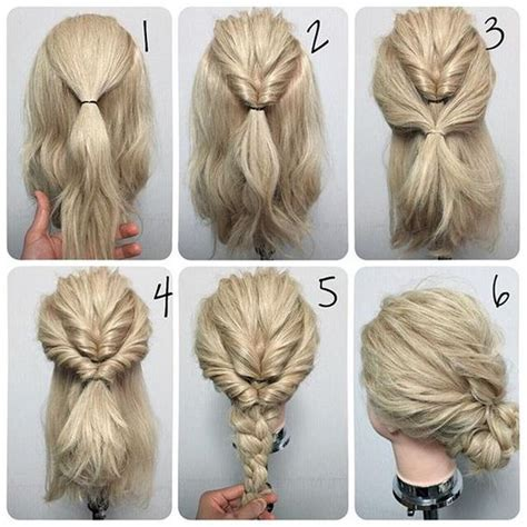 easy step  step updo tutorials  beginners hair