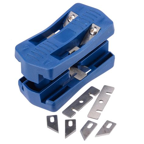 pvc blue double edge trimmer wood edge banding machine manual tail trimming  blades