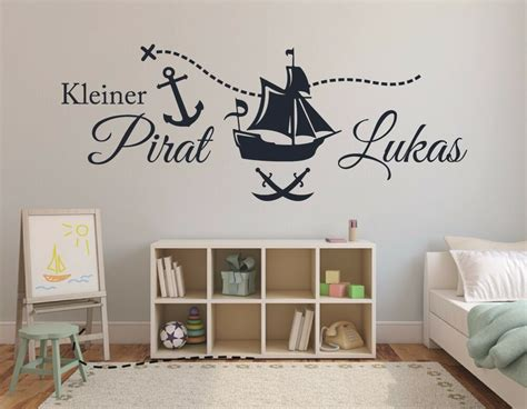 Kinderzimmer Deko Mit Namen by Wandtattoo Name Kinderzimmer Baby Jungen Piratenschiff