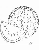 Watermelon Clipart Coloring Clip sketch template