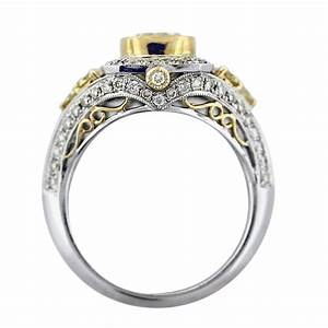 cushion cut fancy yellow diamond engagement ring 18k two With wedding ring with diamond