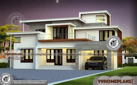 flat top house plans  double floor ultra modern simple collections  images bungalow