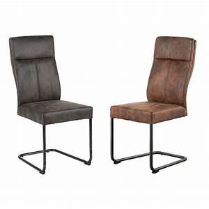 Chaise En Tissu Gris : chaise en tissu microfibres gris et pieds m tal noir 45x61x99cm ~ Teatrodelosmanantiales.com Idées de Décoration
