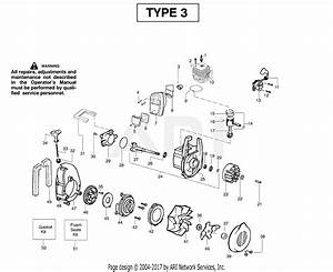 Poulan Ppbvm200le Gas Blower Type 3 Parts Diagram For