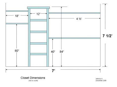 Closet Dimentions by Diy Closet Organizer Plans How To Customize Your Closet