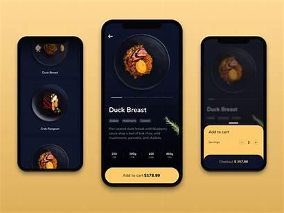 Ui App Order Gold Interface Dribbble User