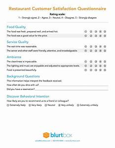 customer satisfaction survey template for restaurant owners With restaurant customer satisfaction survey template