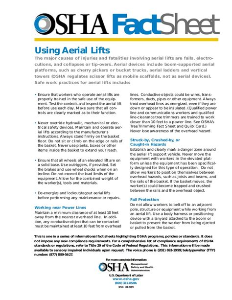 osha awp lift fact sheet