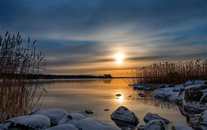 Wallpapers Reflection Sunrise Sunset Winter Desktop Backgrounds