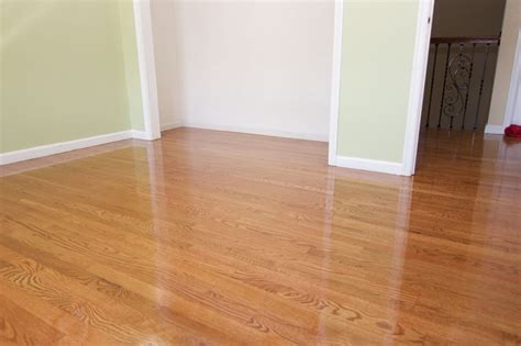 white oak flooring with minwax gunstock top coated with