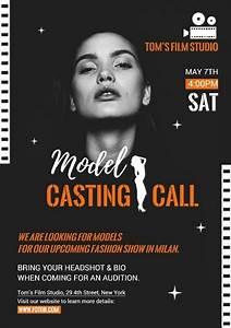 Audition Poster Design Online Casting Call Poster Template Fotor Design Maker