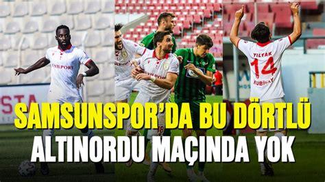 Altınordu, rakibini mağlup ederek samsun'daki rövanş maçı öncesinde avantaj. Samsunspor'da bu dörtlü Altınordu maçında yok - Samsunspor haber