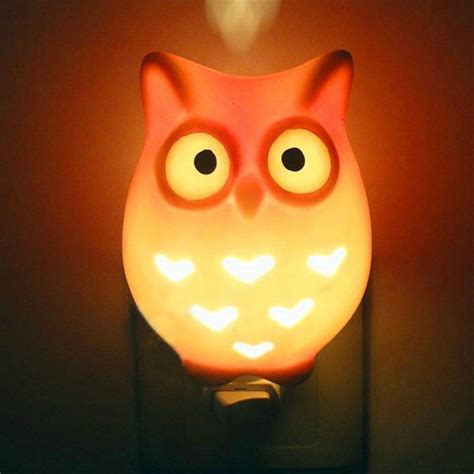 owl wall night light 50 owl home decor items every owl lover should have