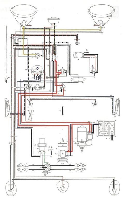Electrical Wiring Diagram Vehicle by 2010 07 19 Vw 1200 Beetle Wiring Diagram Electrical System
