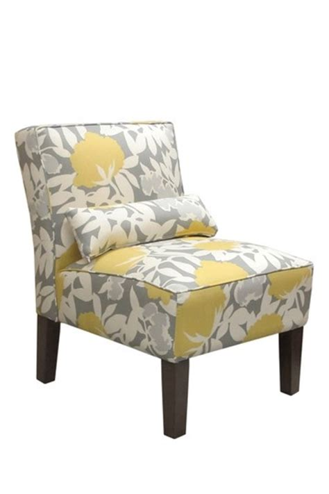 grey and yellow occasional chair for the home
