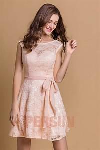 Robe Mariage Dentelle : petite robe rose en dentelle pour cocktail de mariage dos ~ Mglfilm.com Idées de Décoration