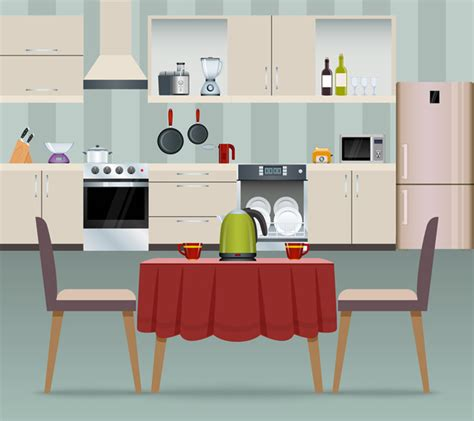 arrive hot sale cartoon kitchen photo backdrops photo