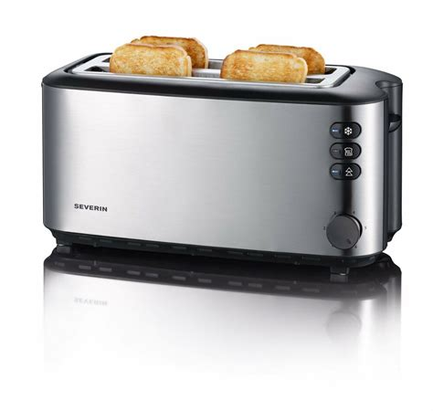 Tostapane Severin by Severin Automatic Slot Toaster 4 Slice 1400w Brushed