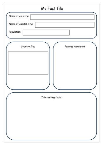 Geography Fact file recording sheet | Teaching Resources