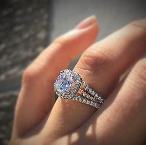 Are halo engagement rings tacky designers diamonds for Halo engagement rings with wedding bands