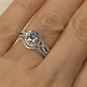 Engagement rings multi stone magnolia engagement ring for Engagement and wedding rings that fit together