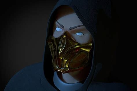 scorpion mask mortal kombat   model  printable stl