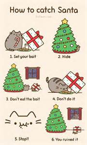 how to catch a cat cat attempts to catch a santa on pusheen comics